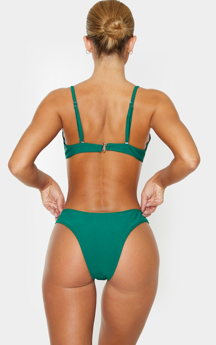 Emerald Green Mini Brazilian Bikini Bottoms 4