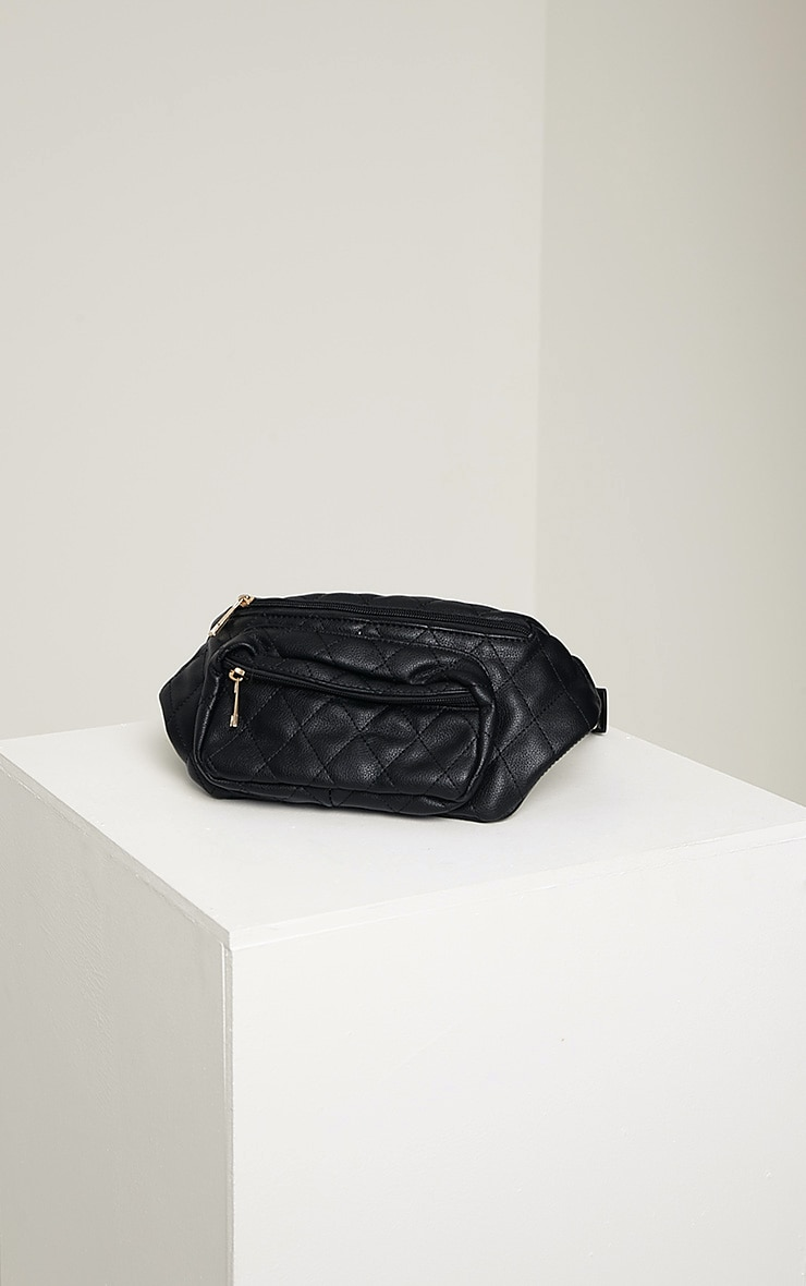 Brooke Black Quilted Bum Bag 3