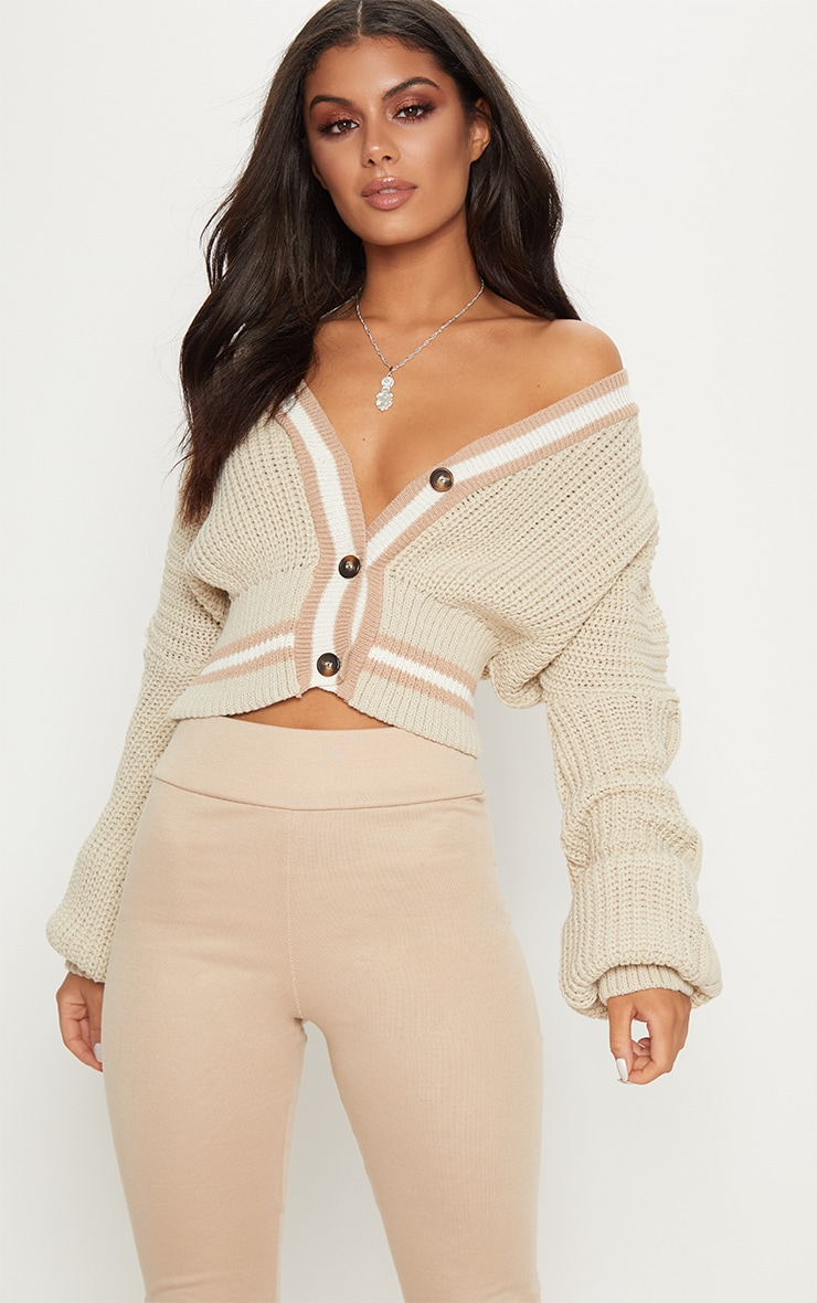 Stone Crop Extreme Sleeve Knitted Cardigan 2