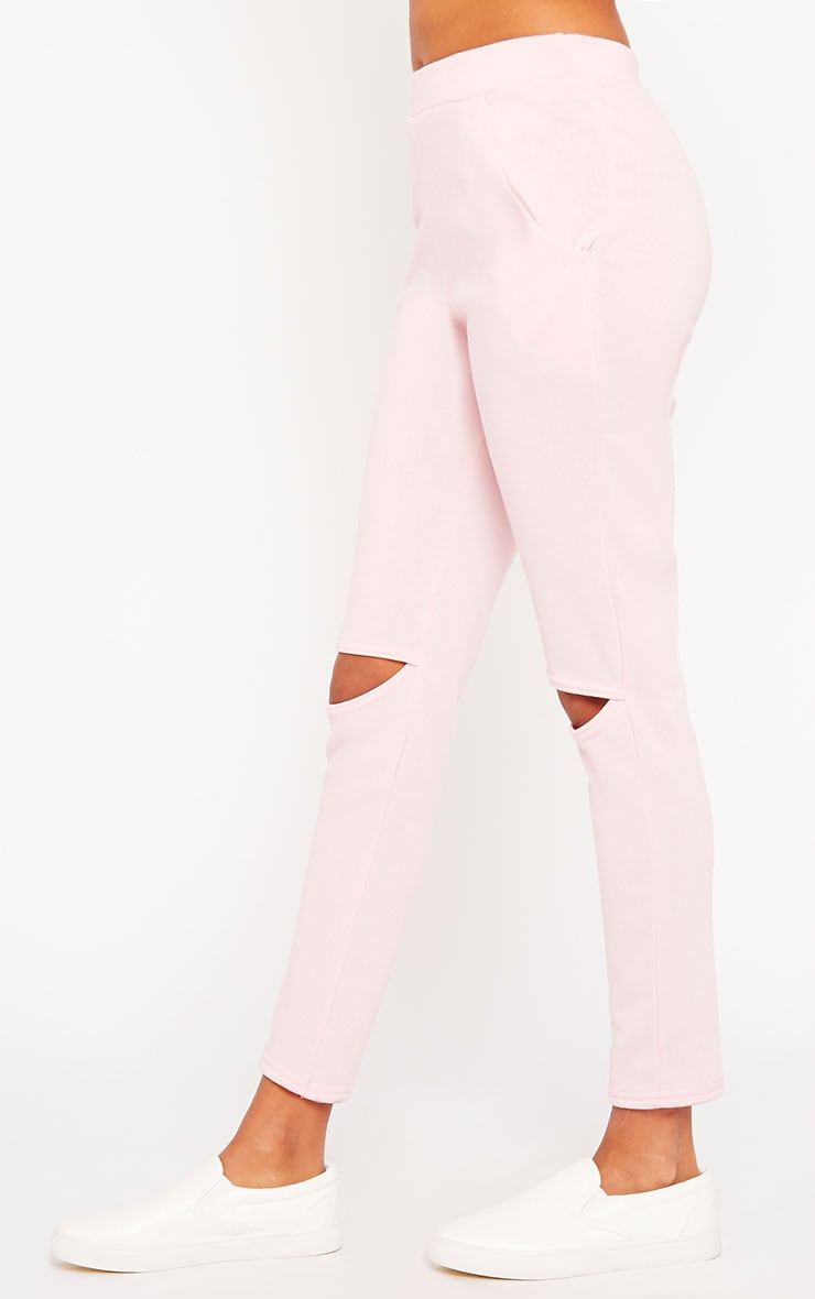 Dionne Pink Slit Knee Joggers 3