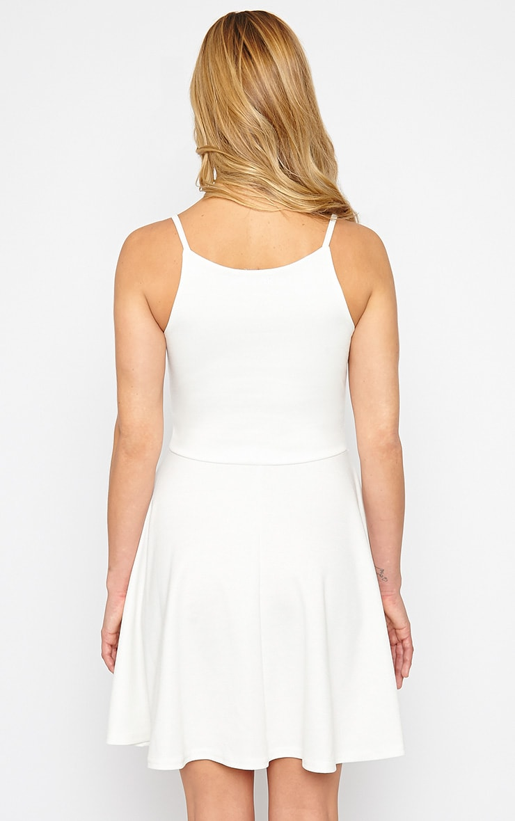 London Cream Skater Dress 2