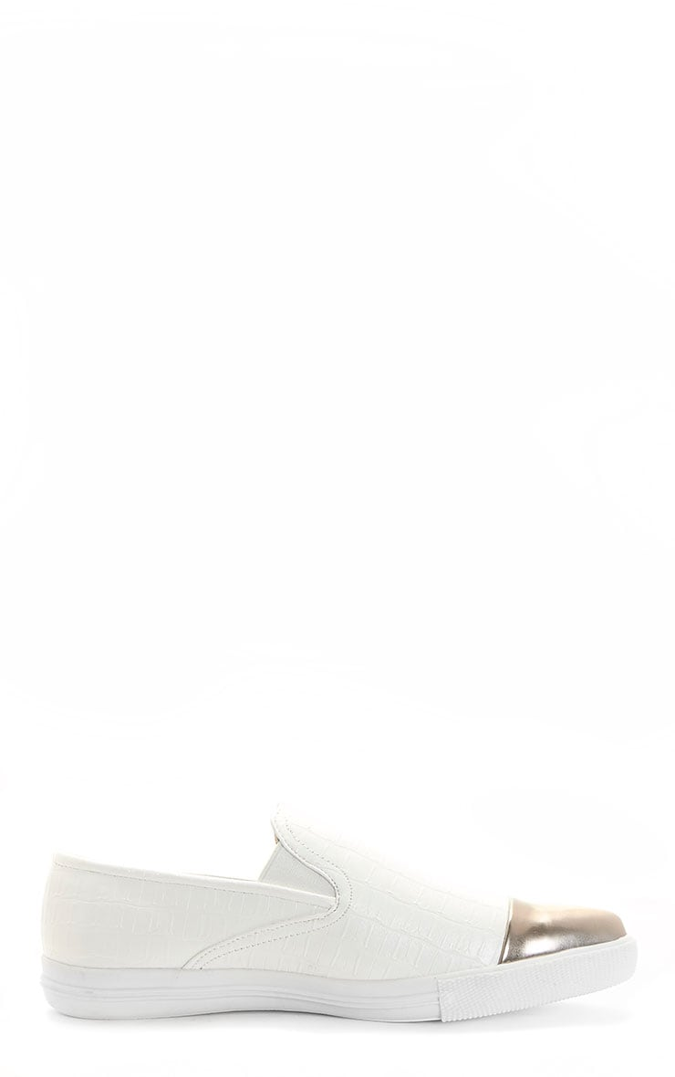 Cassidy White Pointed Toe Trainer 3