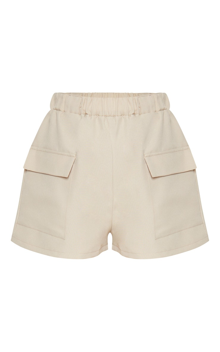 Petite Stone Pocket Detail Cargo Shorts 3