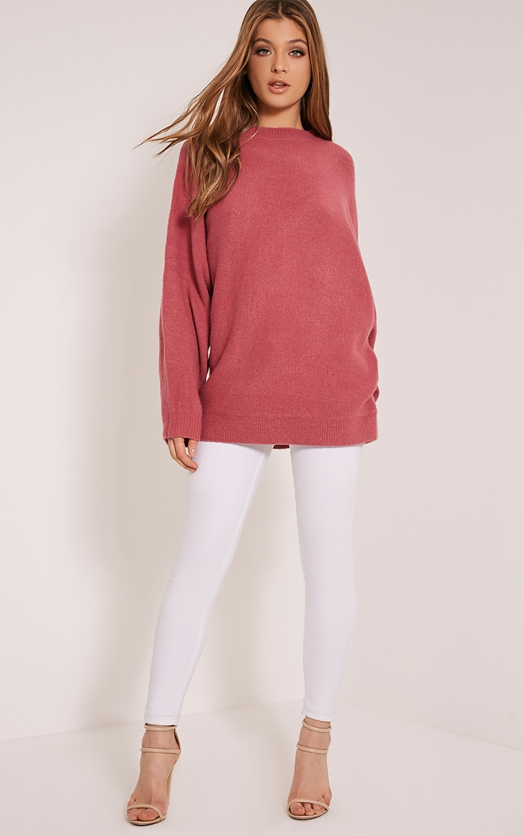Raysa Dark Rose Oversized Knitted Jumper 4