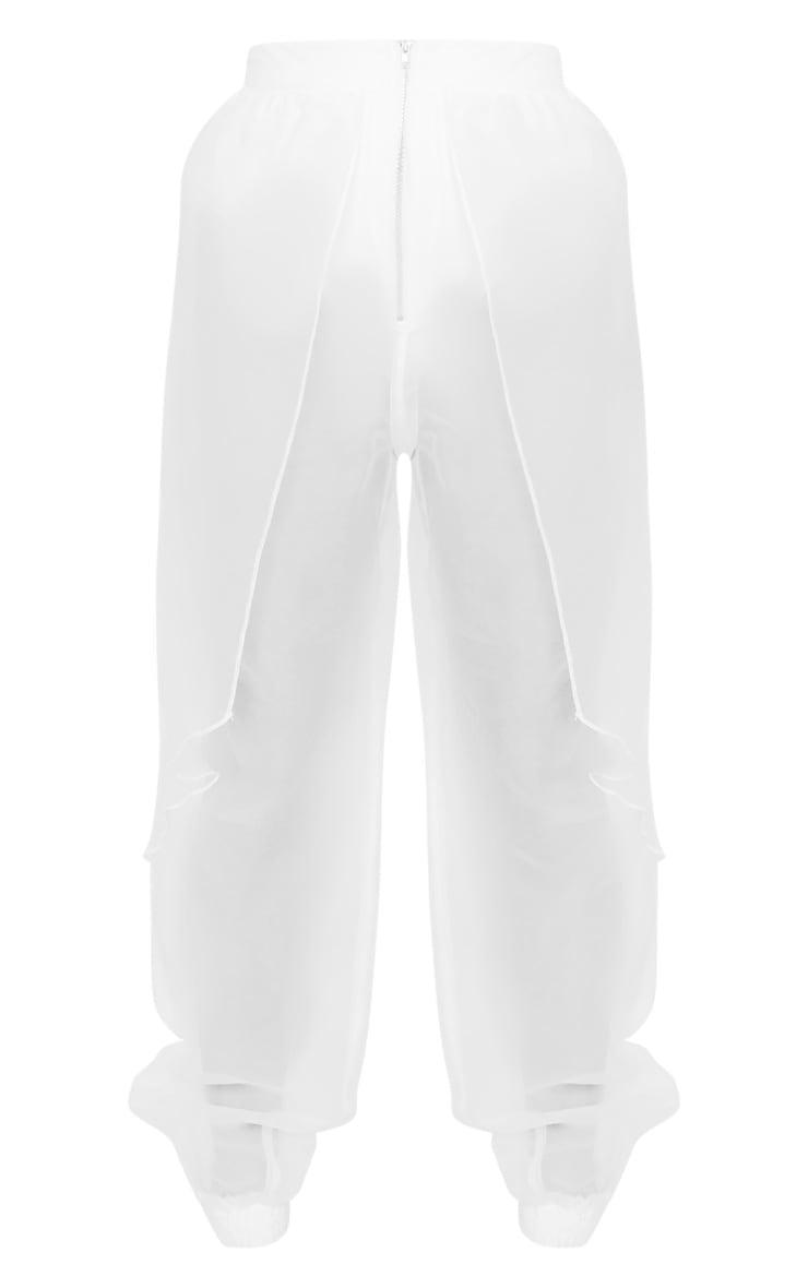 Petite Cream Organza Balloon Pants 3