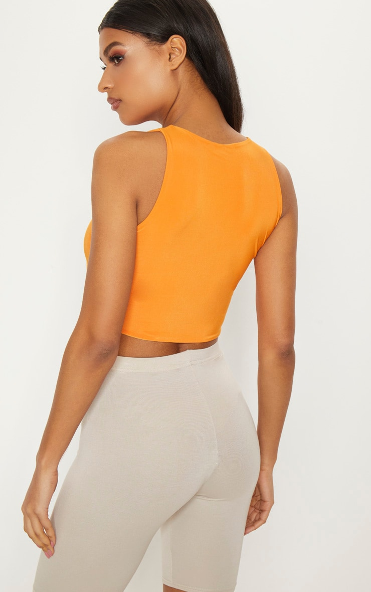 Orange Slinky Under Bust Crop Top 2