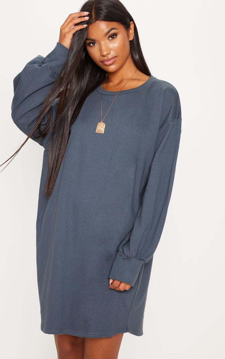 Charcoal Oversized Sweater Dress 4