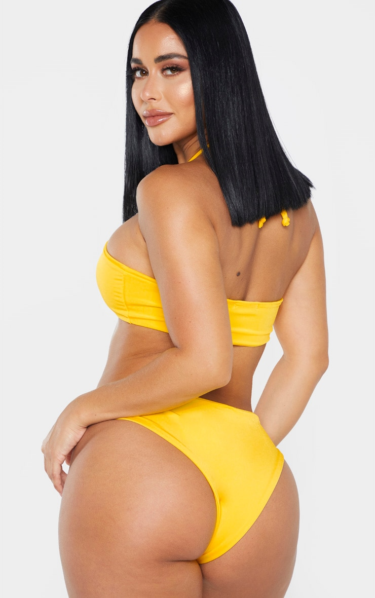 Shape Bright Yellow Adjustable Halterneck Bikini Top 2