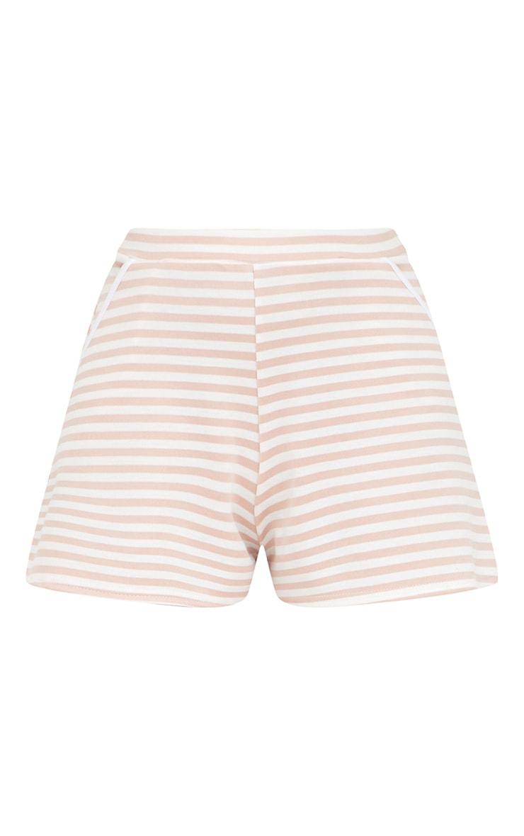 Nude Scuba Stripe Shorts 3
