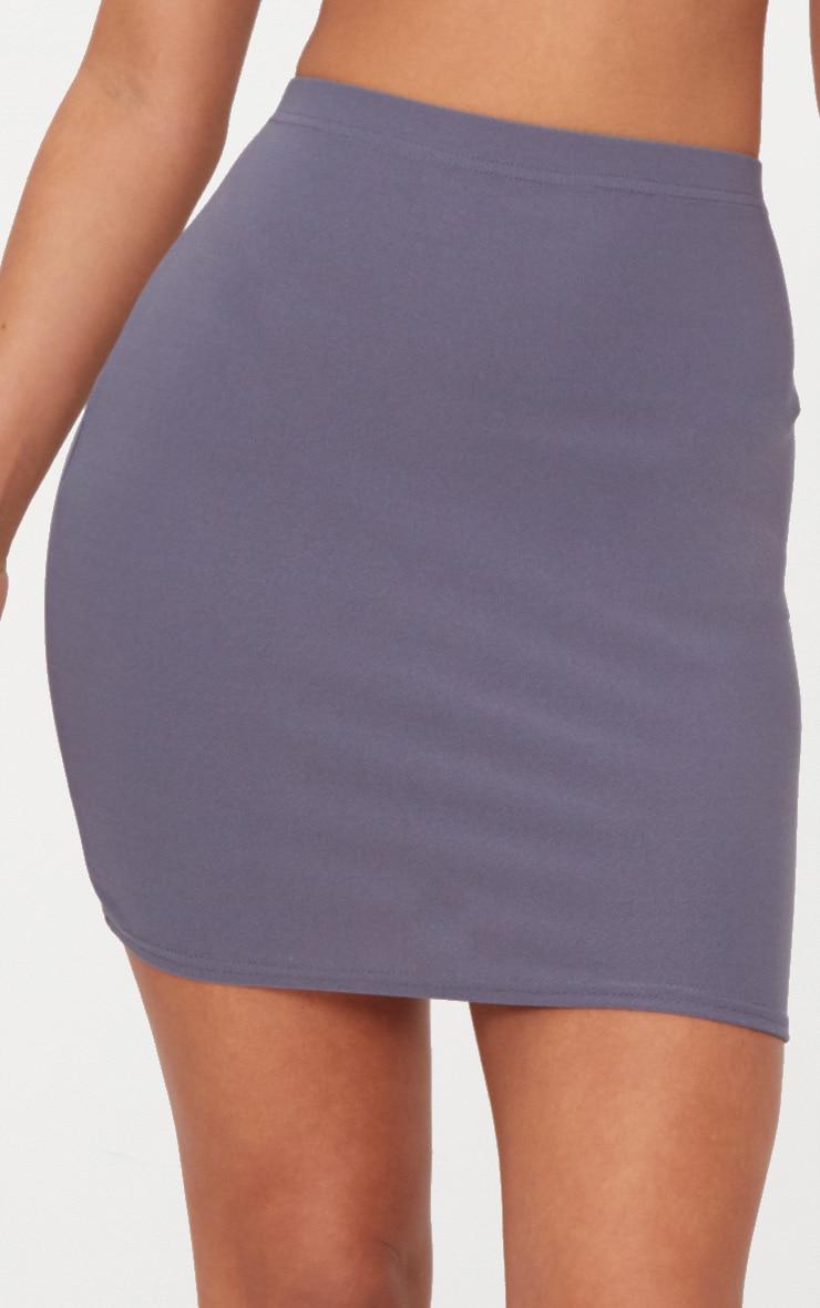 Dusky Blue Mini Skirt  6