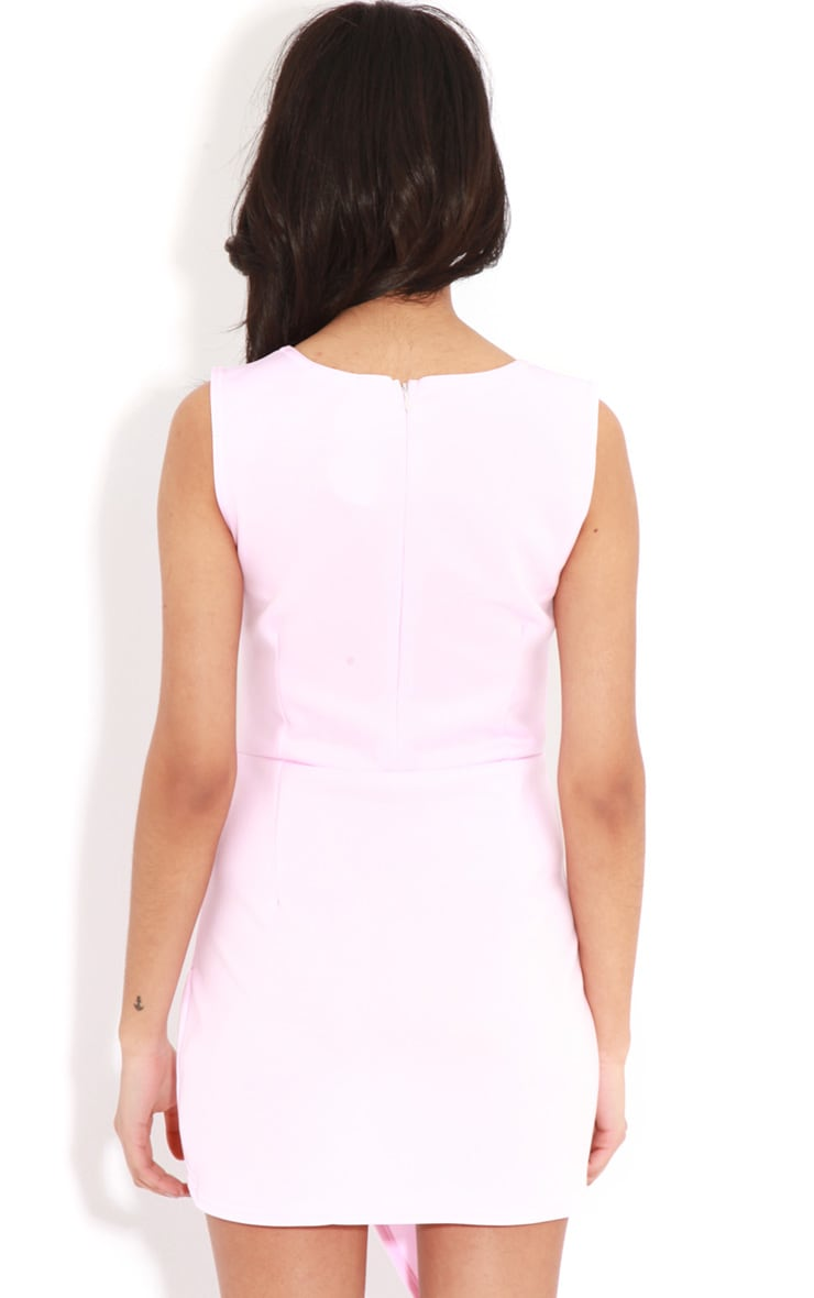 Celine Pink Wrap Over Dress 2