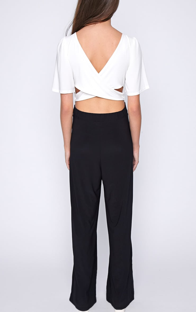 Trinity Monochrome Cut Out Back Jumpsuit  2