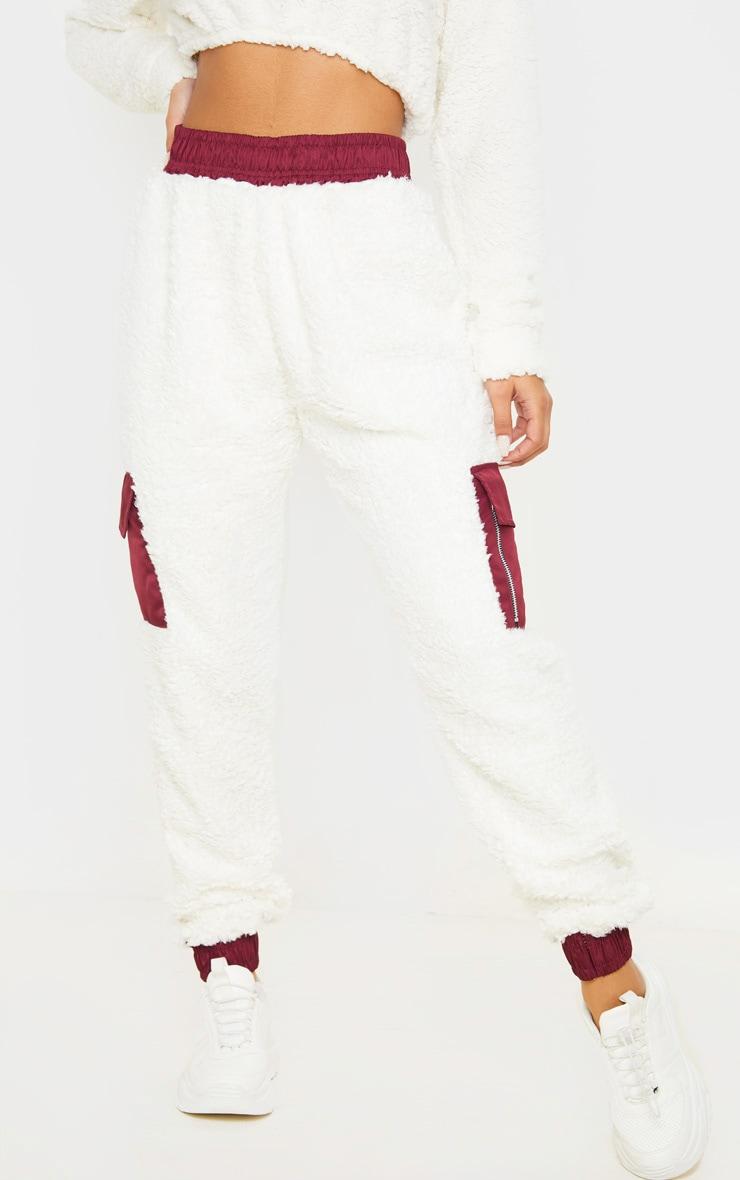 Cream Borg Pocket Track Pants 2