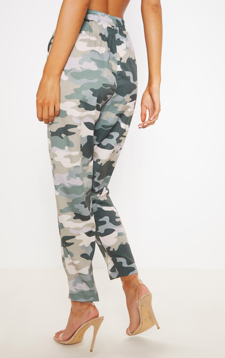 True Camo Print Cigarette Pants 4