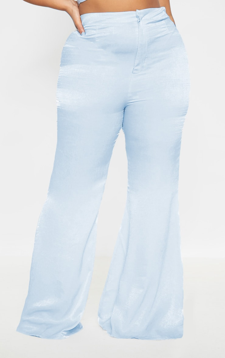 Plus Dusty Blue Tailored Extreme Flared Pants 2