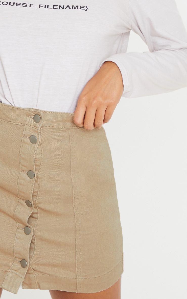 Dark Stone Denim Cammie Mini Skirt 6