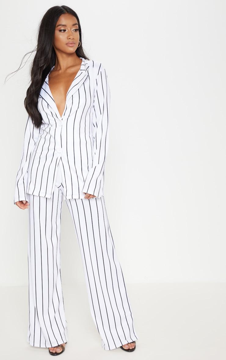 Petite White Striped Blazer  4