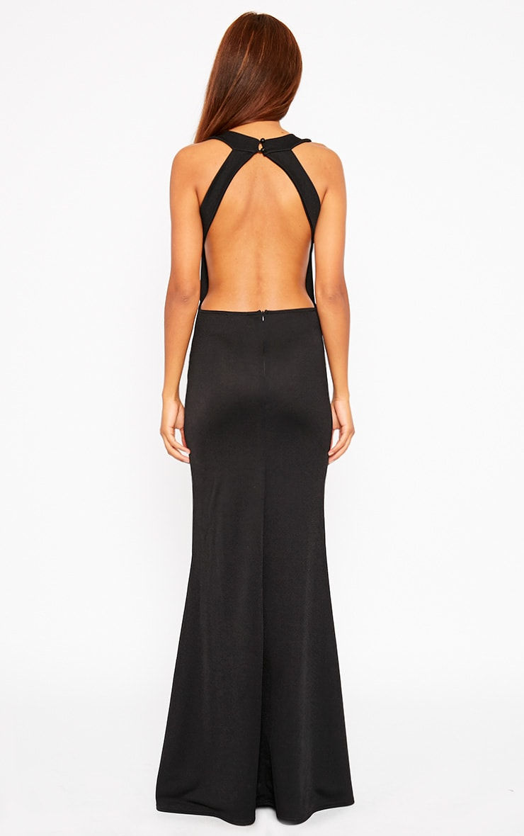 Brandy Black Plunge Maxi Dress 2