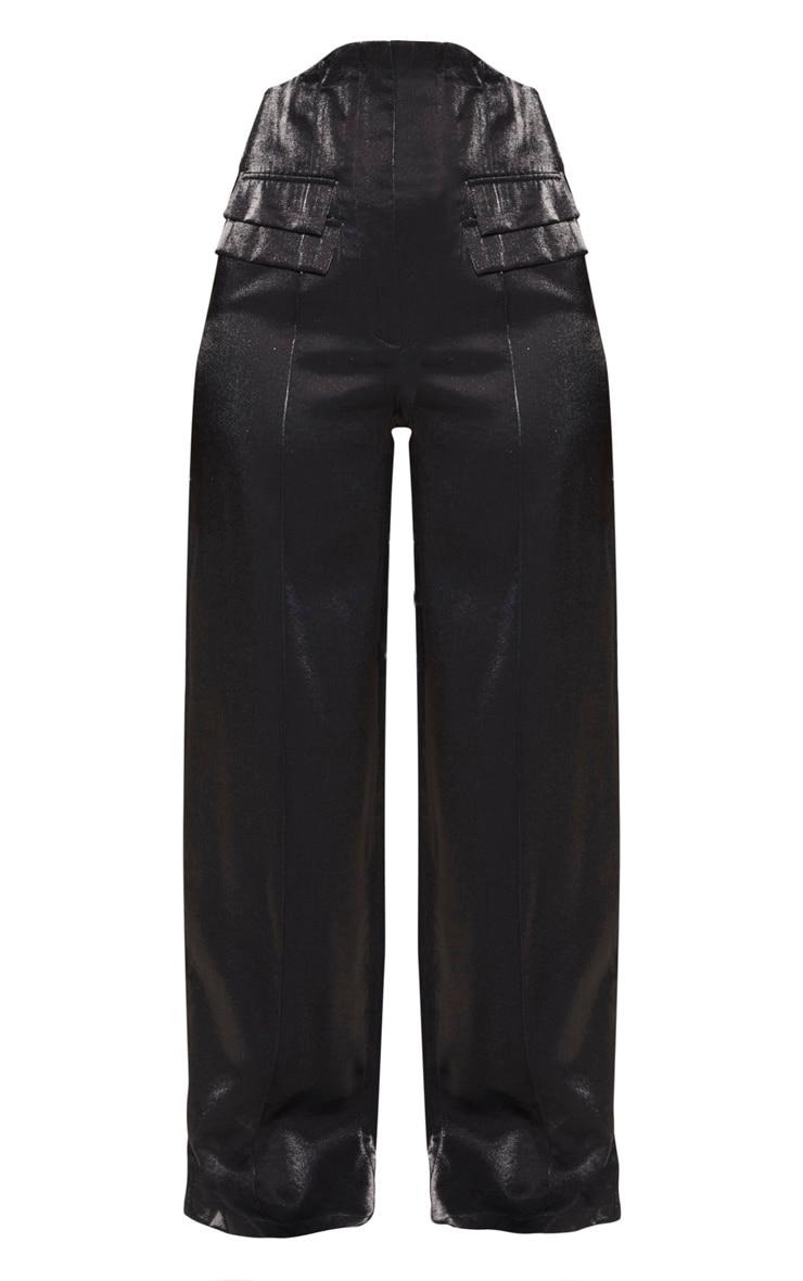 Black High Waist Corset Pants 3