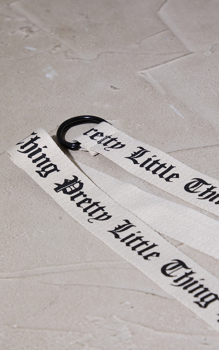 PRETTYLITTLETHING Stone Gothic Font Taping Belt 2