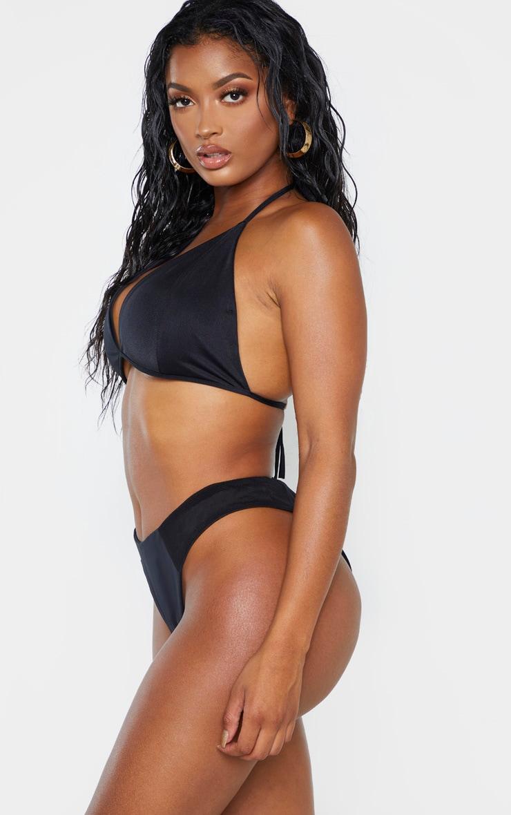 Shape Black Mesh High Side Bikini Bottom 2