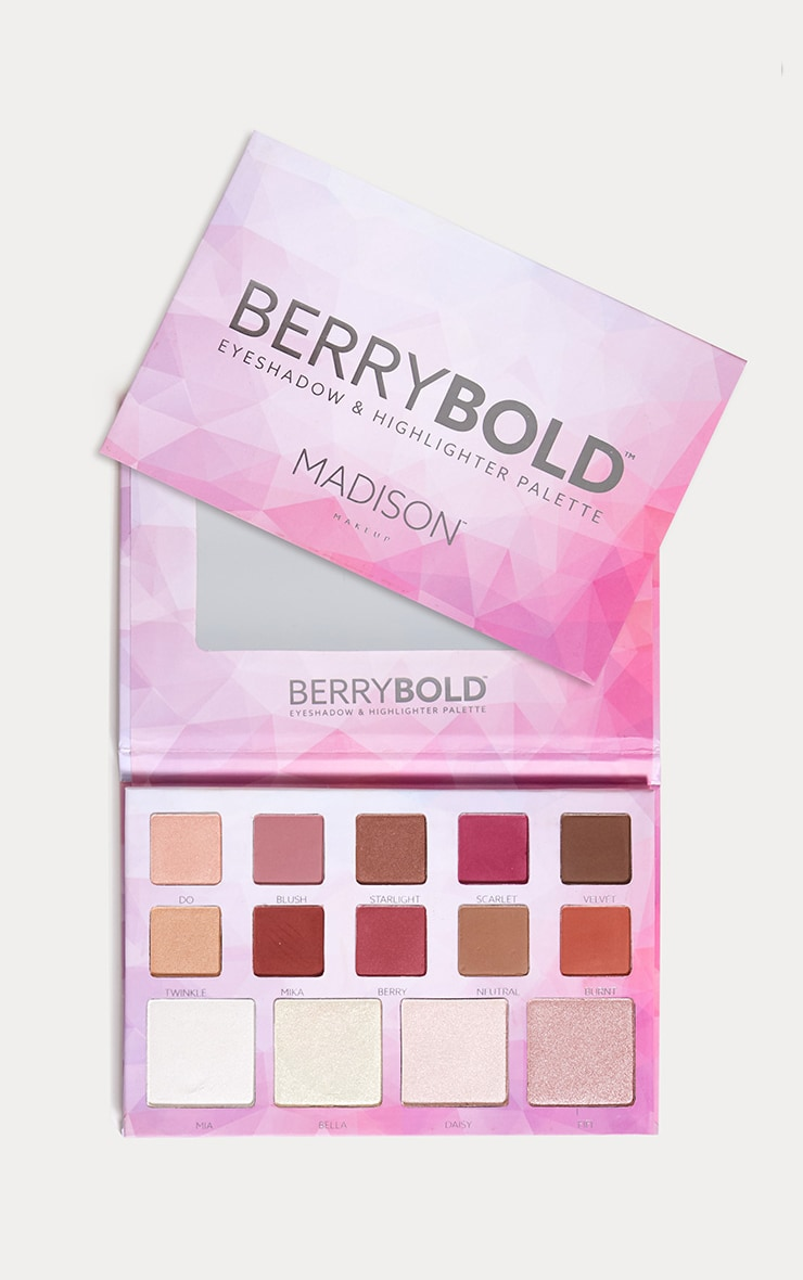 Madison Makeup Berry Bold Eyeshadow Highlighter Palette 1