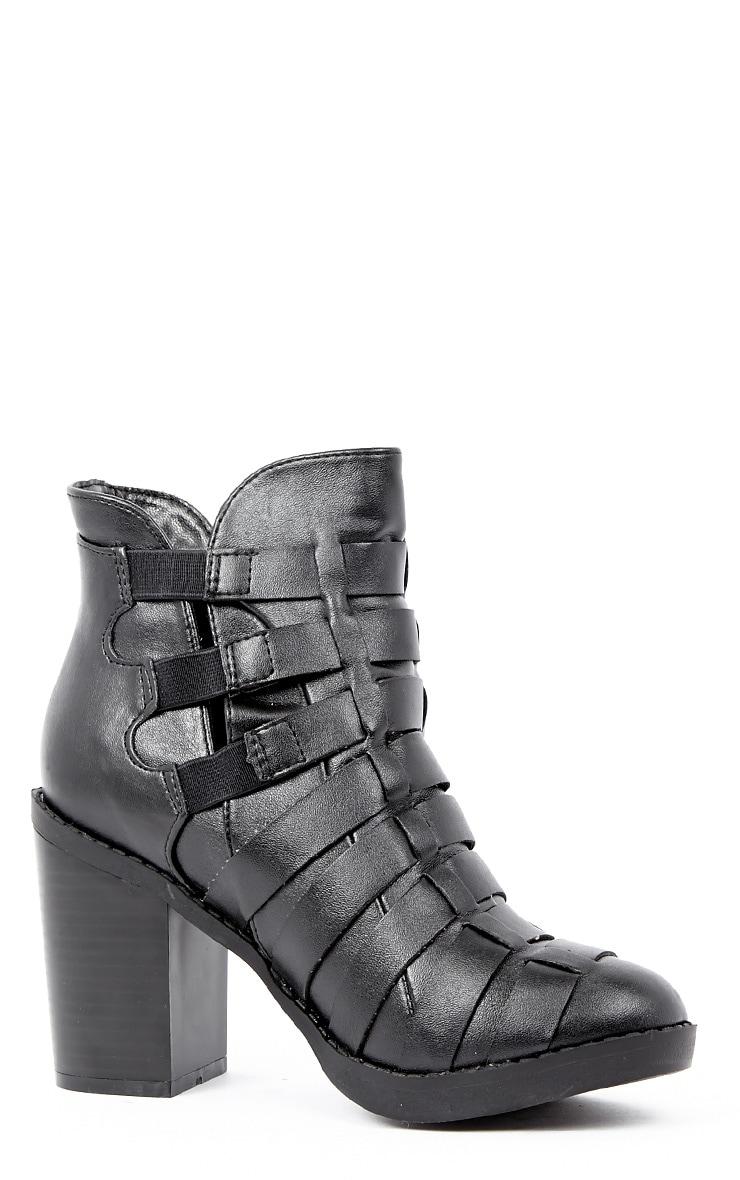 Margie Black Weave Boots 2