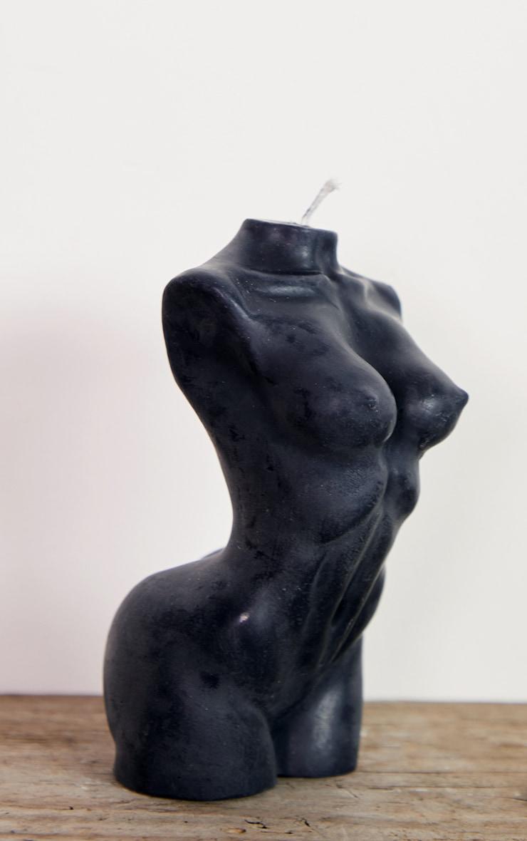 Black Large Female Body Candle 14cm 5