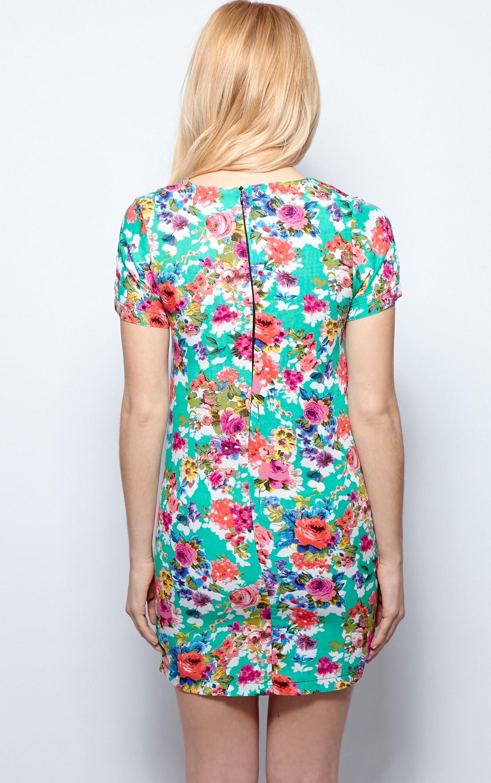 Saskia Green Floral Shift Dress 2