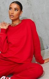 Red Ultimate Oversized Sweatshirt 4