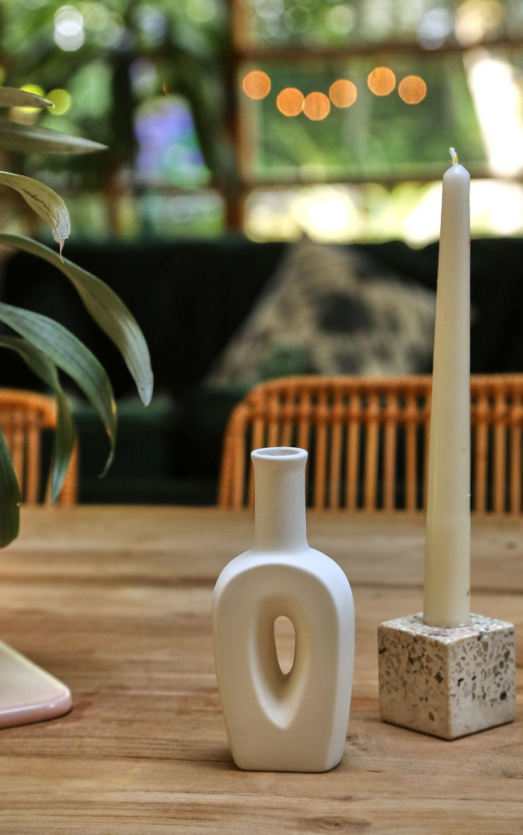 White Small Cut Out Vase 1