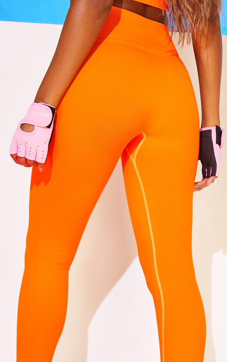 Tangerine Basic Seamless Badge High Waist Gym Leggings 3