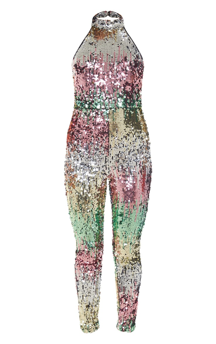 Sequin Open Back Jumpsuit 3