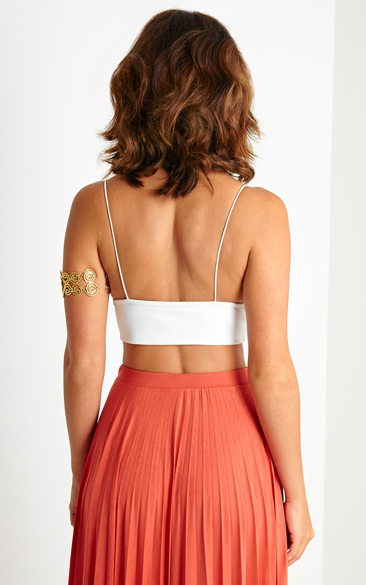 Reanne Cream Crepe Triangle Bralet 2