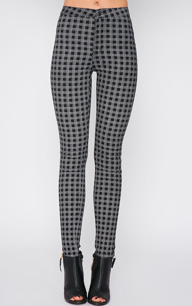 Rhosyn Monochrome Square Print High Waist Skinny Jean  3
