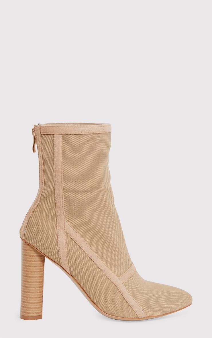 Kyra Nude Panelled Sock Boots 2