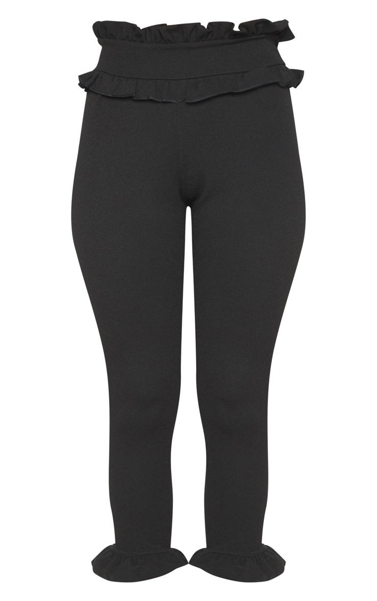Keren Black Frill Hem Pants 3