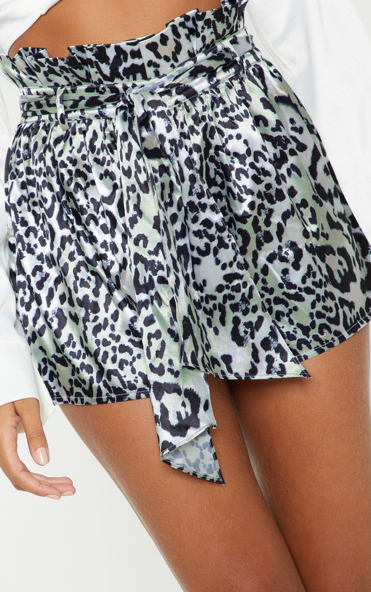 Leopard Print Tie Waist Short 6