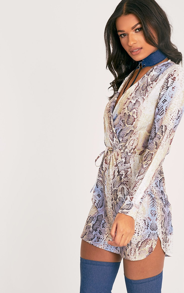 Poppy Multi Snake Print Wrap Dress 5