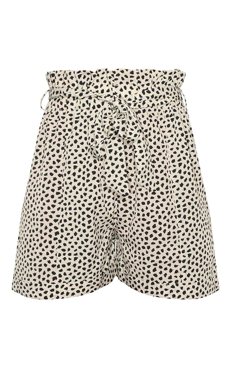 Dalmatian Print Tie Waist Short 4