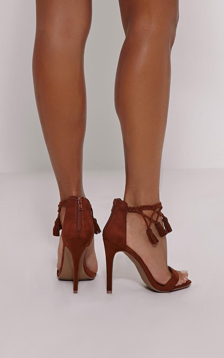 Dulce Mocha Tassel Tie Heeled Sandals 2