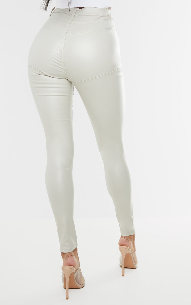 Stone Hourglass Coated Skinny Jeans 3