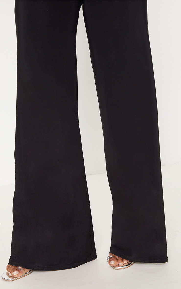 Shape Black Slinky Side Split Wide Leg Trousers  5