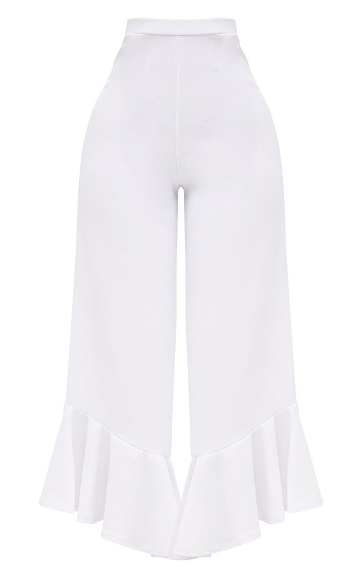 Shape Carmelia White Frill Hem Trousers 3
