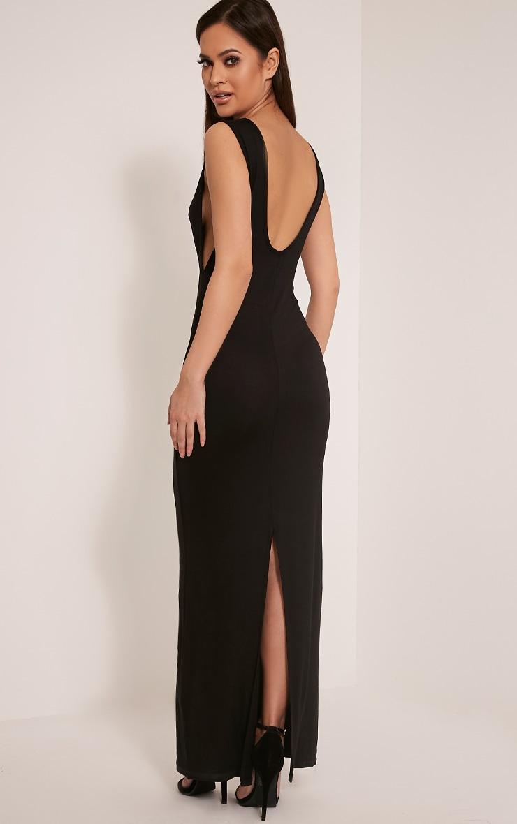 Basic robe maxi à emmanchures larges noire 1