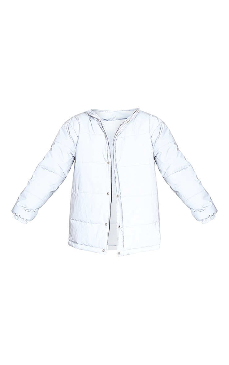 Silver Reflective Puffer Jacket 3