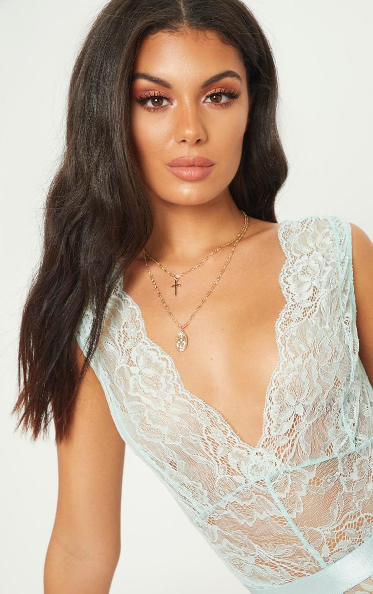 Mint Lace Bodysuit 6