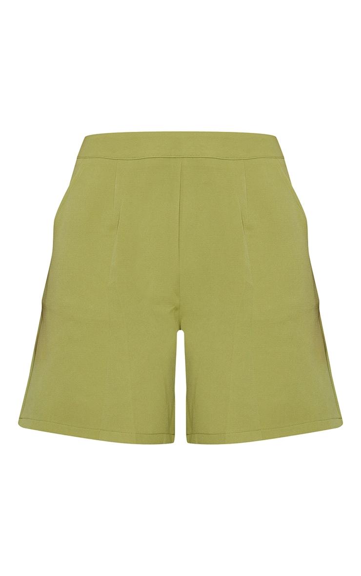 Olive Woven Pocket Detail City Shorts 6