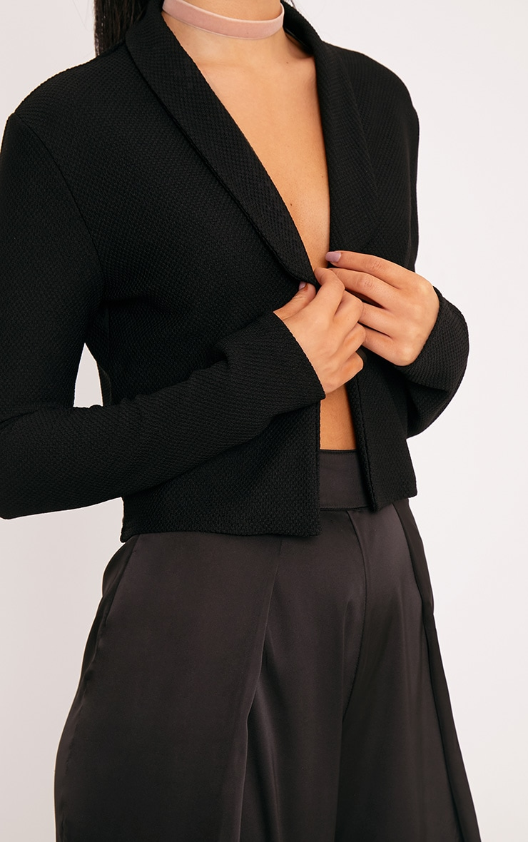 Irie Black Cropped Textured Blazer 5