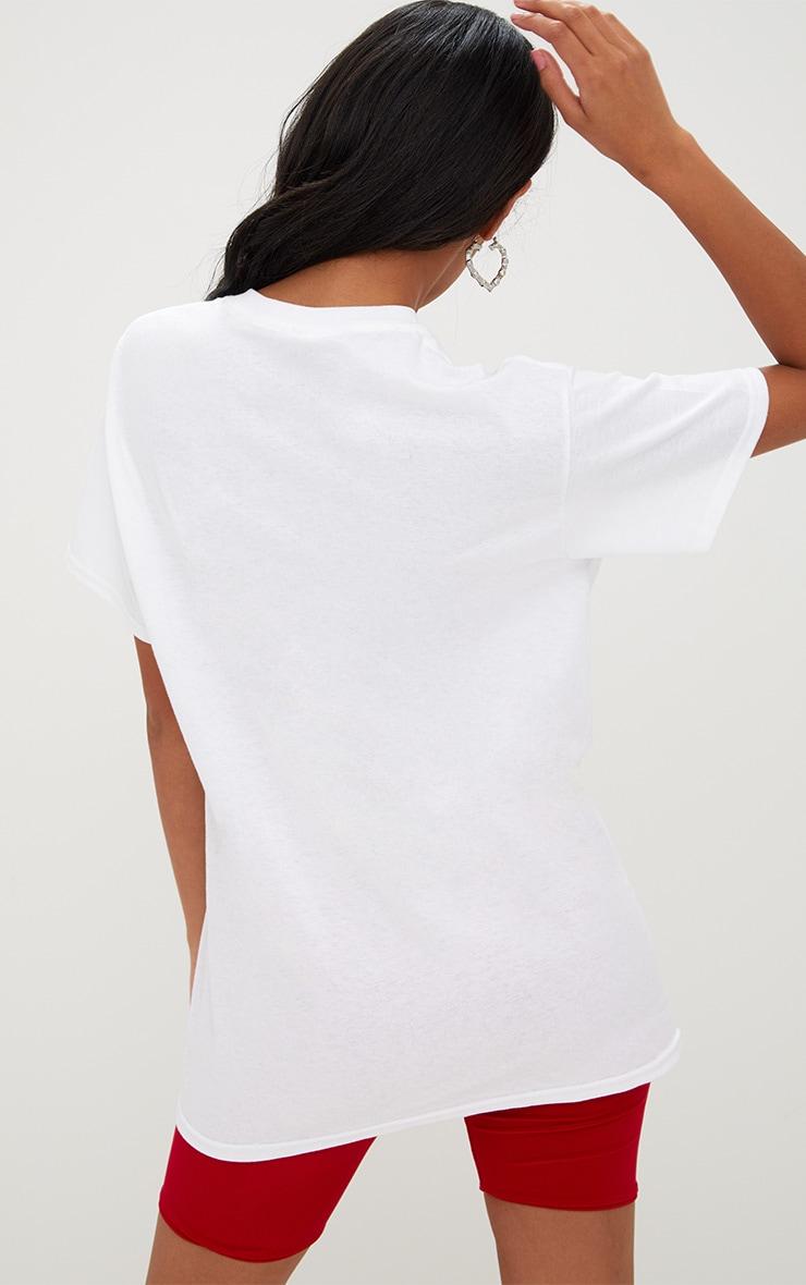 White EVERYTHING Slogan Roses T Shirt 2